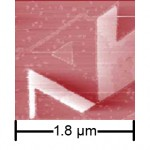C60 domains on a GaSe/MoS2 heterostructure substrate (K. Ueno)